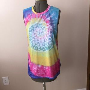 Pullover crew neck tie dye t shirt.   New